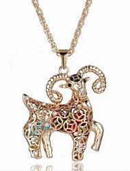 Women's Fashion Cubic Zirconia Rhinestone Set Auger Jewelry Alloy Necklace