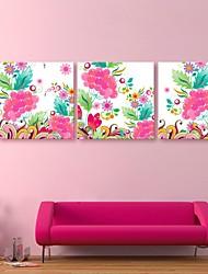 e-home® lona esticada arte padrões coloridos set decoração pintura de 3