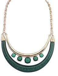 europäischen Stil Mode-Straße schießen Doppelhalbmond Halskette (weitere Farben)