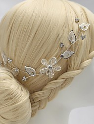 Luxurious Alloy Hand-made Flowers with Rhinestone Wedding Bridal Headpieces