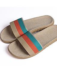 scarpe da donna punta aperta pantofole in tessuto tacco piatto scarpe più colori disponibili