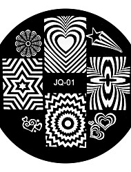 JQ Series Chic Designs Nail Art Image Stamp Stamping Plates Manicure Template 01