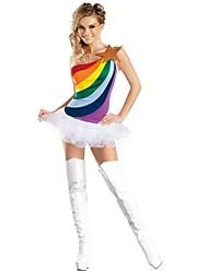 Cheerleader Costumes Women's Fashion Sweet Rainbow Dance Dress