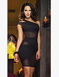 N&S Women's Sexy Mesh Splicing Dress
