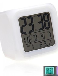 Electronic Fluorescent Clock Christmas Gift Frozen Alarm Clock LED 7 Colors Change Digital Clock
