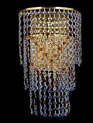 maishang® arandelas de parede de cristal, moderno contemporâneo metal / e12 / e14