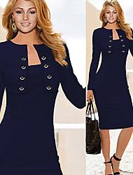 Monta las mujeres de moda casual de dos piezas como el vestido