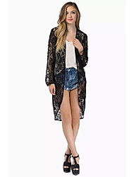 JOJO Women's Fashion Solid Color Lace Cardigan