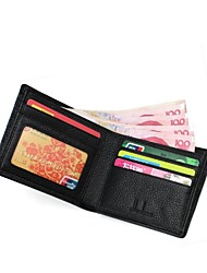 ZORDANY® Men's Leather Wallet Black Short Style
