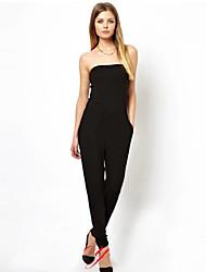 Women'S Strapless Slim Fit Black Jumpsuit Hot Sale Cheap Desi gual Female Rompers Femininos Roupas