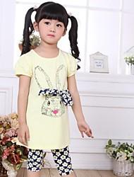 Girl's Cotton Clothing Set , Summer Long Sleeve