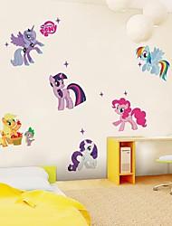 stickers muraux autocollants de mur, mignon petits style cheval muraux PVC autocollants.