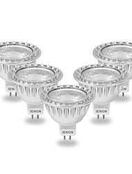5W GU5.3(MR16) LED Spotlight MR16 COB 400-450 lm Cool White AC 12 V 5 pcs