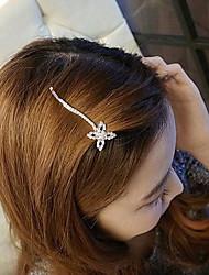 z&X® strass estilo coreano sorte hairpin trevo (2 opções de cores: dourado, prata)