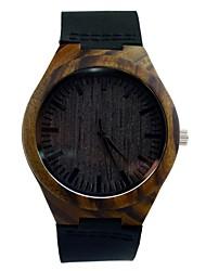 Мужской Нарядные часы Японский кварц Кожа Группа Черный бренд-
