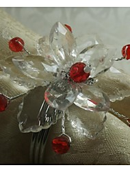 Acrylic Flower Napkin Ring, Acrylic, 1.77 Inch, Set Of 100