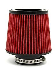 """Tirol rouge entrée admission d'air froid diamètre du filtre 3 tuyau universel """"rond conique matériau PU"""