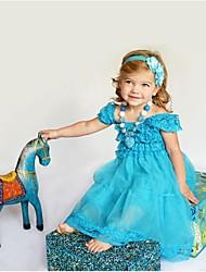 robe robe de princesse à manches courtes robe congelés fille robe robe d'été de fille