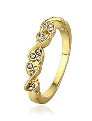 18 k or anneau bande de diamant rond environnement plaqués (plus de couleurs)