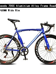 Road Bike Cycling 14 Speed 60mm Unisex SHIMANO TX-30 Double Disc Brake Ordinary Monocoque Ordinary/Standard Aluminium Alloy / Steel