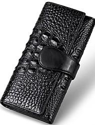 MEGA Alligator Women's Clutch Purse Genuine Leather Folding Wallet