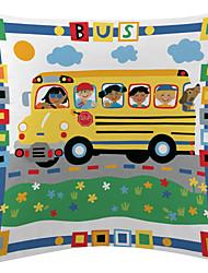 дети автобус бархат декоративная подушка крышка