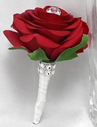 Bouquets de Noiva Rosas Alfinetes de Lapela Casamento / Festa / noite Cetim