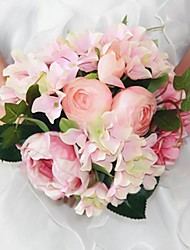 Wedding Décor Elegant Pink Peony Round Shape Silk  Bouquets For  Bride