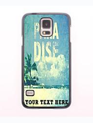 caja del teléfono personalizado - caso del metal del diseño de la playa para samsung galaxy s5