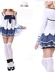 bonito branco âncora e tinta azul marinheiro uniforme menina