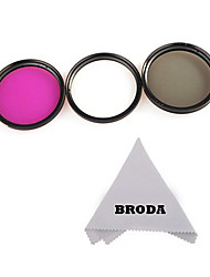 58mm   3 Piece Filter Kit (UV-CPL-FLD)+Cleaning Cloth