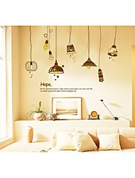 murali Stickers adesivi murali, wall stickers stile lampadina pvc