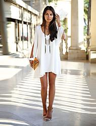 v cou robe de mousseline de style occidental de Peng La femmes