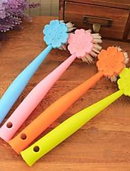 pot pendurado escova escova limpa uma escova tigela, plástico 22 × 5 × 2 cm (8,7 × 2,0 × 0,8 polegadas) cor aleatória