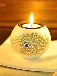 Exoticism Peacock Feathers Candle Holder