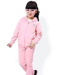 terciopelo niñas conjunto de ropa deportiva de tela