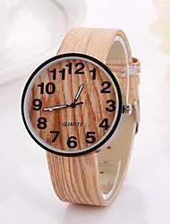 Women's Arabic Numerals Digital Round Table Pure Color Teak Strap  Watch C&D-346 Cool Watches Unique Watches