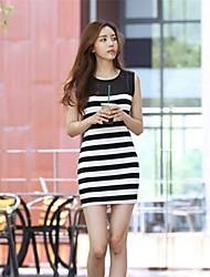 vestido de la raya de la moda de las mujeres