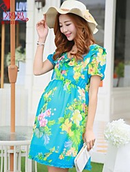 Maternity Korean fashion pregnant Chiffon Dress Maternity Skirt falbala pregnant women dress