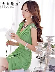 Women's Green Dress , Sexy/Bodycon/Casual Sleeveless