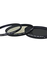 Новый взгляд ND2 к ND400 фильтра + CPL фильтр + УФ-фильтр для камеры (67мм)