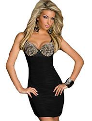 beauté des femmes pic sexy soutien-gorge clouté robe disco haut moulante robe bandage mini robe de club sexy 9001
