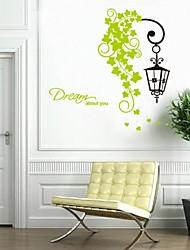 stickers muraux stickers muraux, romantique fleur rotin Applique pvc autocollants