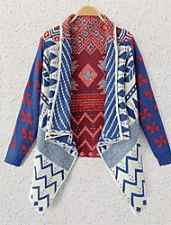 Women's Blue Cardigan , Casual Long Sleeve