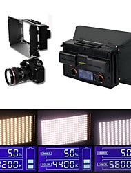 NEW LED312DS Bi-color on Camera Light +2* Batteries LCD Screen 312  Leds Lighting Adjustable for Camcorder Photo Video