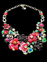 Luxurious Vintage Garden Blooming Flower Wonderland Fashion Handmade Necklace for Anniversary, Cocktail Party, Wedding