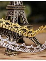 """1/3 """"ruban fleur d'or de l'artisanat à la frontière de dentelle exquise (2 mètres, couleurs assorties)"""