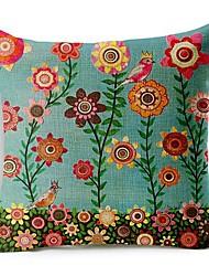 flores coloridas de algodão / fronha decorativo linho