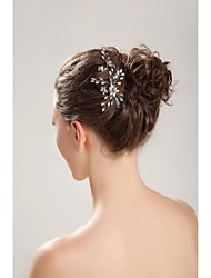 Women's/Flower Girl's Rhinestone/Crystal/Imitation Pearl Headpiece - Wedding/Special Occasion/Outdoor Headbands/Hair Combs