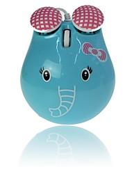 mooie olifant bedrade muis voor desktop-laptop kleuren kabel usb muis